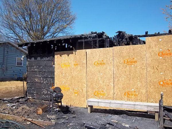 Fire Damage Before Restoration